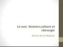 Le Nez,histoire culture et chirurgie